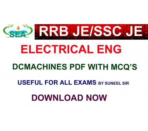 RRB JE / SSC JE DC MACHINES SHORT NOTES WITH MCQ